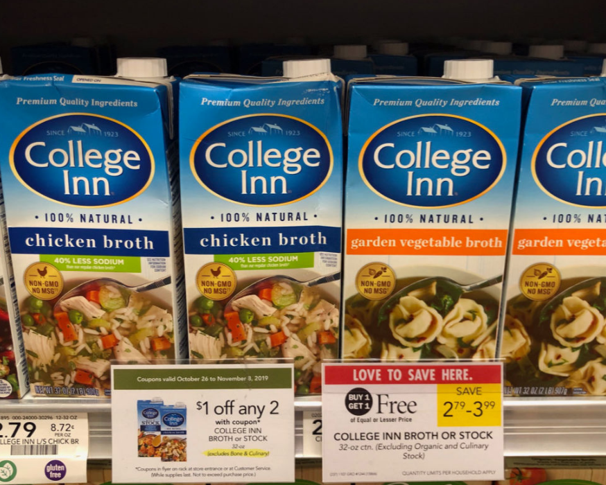 Publix – College Inn Broth (32 oz) Only 40¢ Each! Hurry! Valid Through 11/08