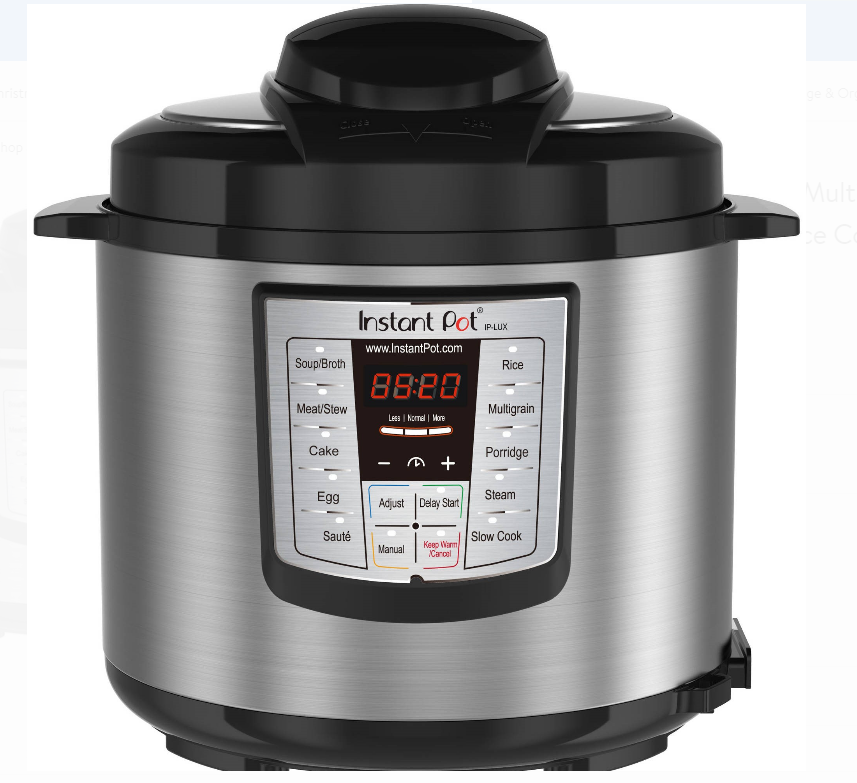 Walmart.com – Instant Pot 6 Qt, 6-in-1 Multi-Use Programmable Pressure Cooker, Slow Cooker, Steamer And More For Only $54.99, Reg $99.00 + Free Shipping!