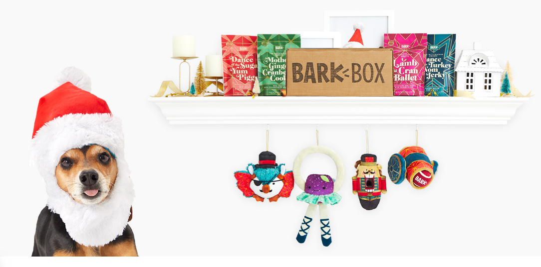 First BarkBox Only $5 – Celebrate the Holidays with Muttcracker Themed Box and a FREE Santa Hat!