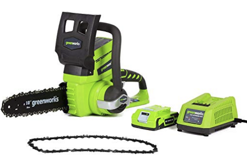 Amazon – Greenworks 10-Inch 24V Cordless Chainsaw with Extra Chain Only $56.73, Reg $78.22 + Free Shipping!