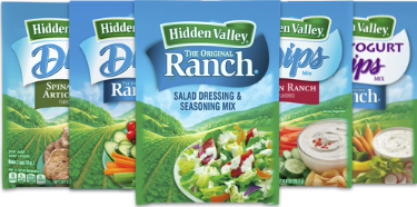Publix – Hidden Valley Ranch Dry Dips or Seasoning Mixes Only 38¢ Each