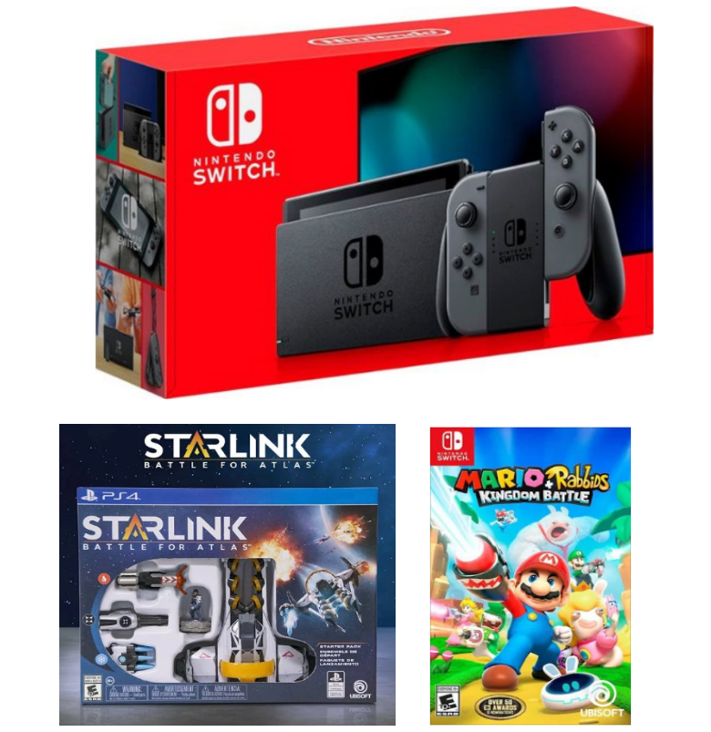 Nintendo Switch 32GB Console + FREE Starlink Battle for Atlas AND Mario + Rabbids Kingdom Battle Games Only $299 + Free Shipping!