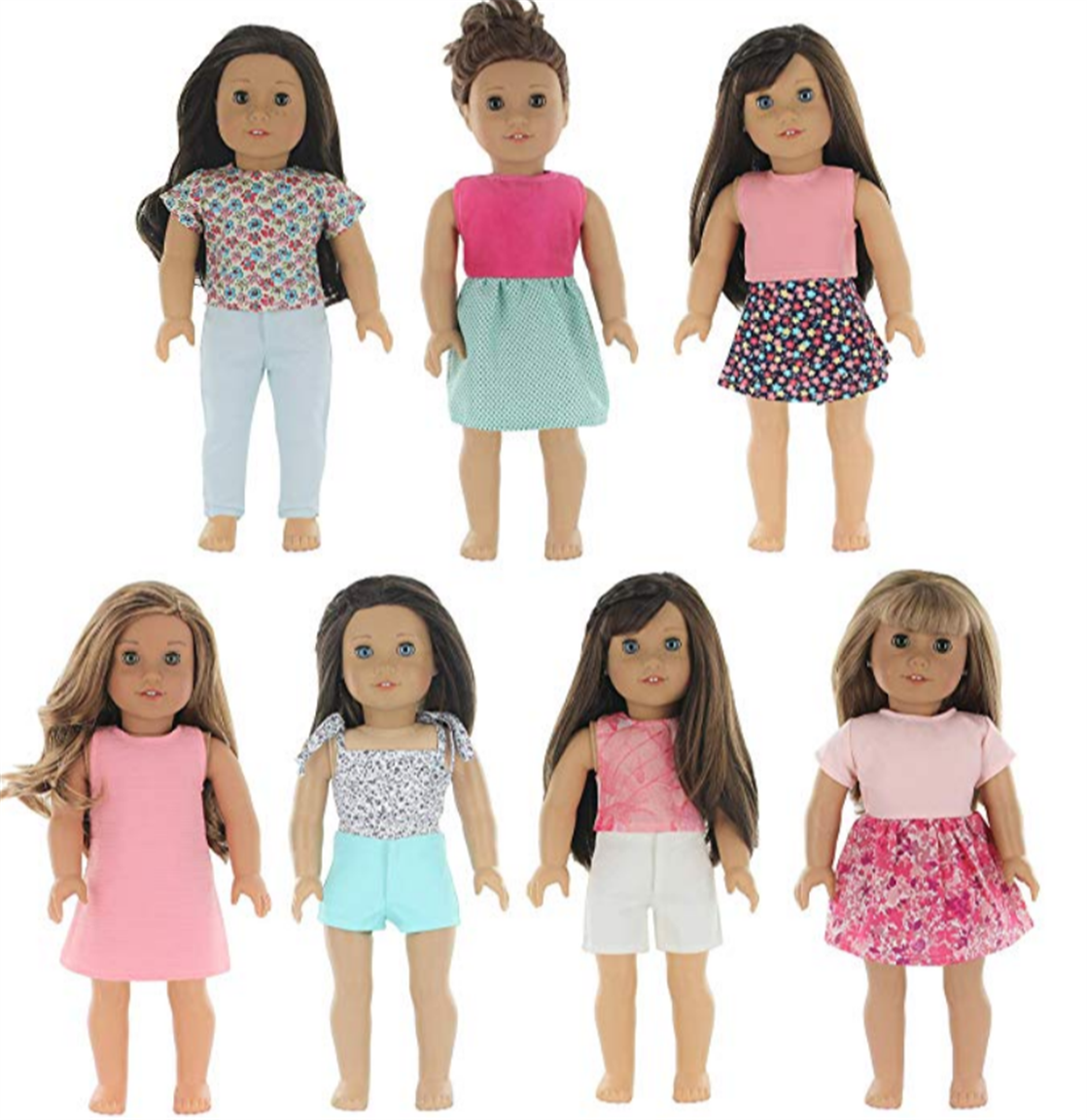 Amazon – SEVEN 18″ Doll Outfits Only $9.75 + Free Shipping! – Fits Our Generation, American Girl & More!