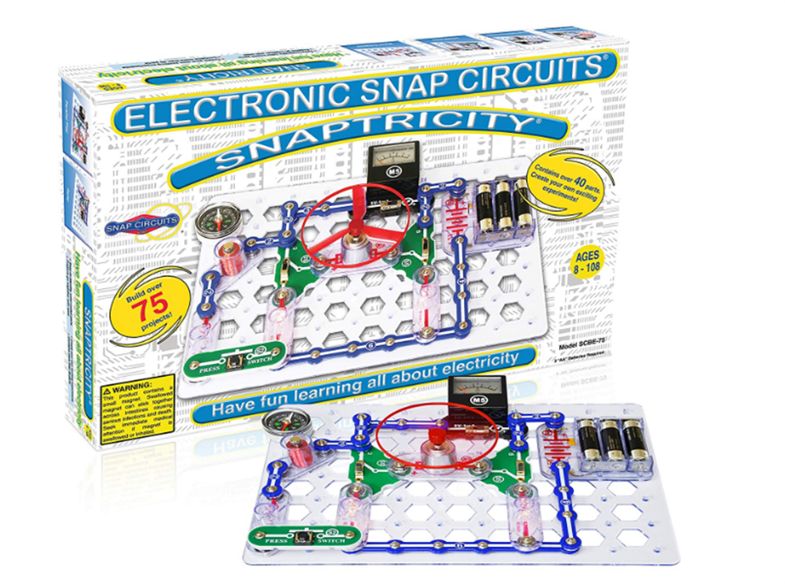 Amazon – Snap Circuits Snaptricity, Electronics Exploration Kit (Stem Building) Only $24.87, Reg $42.99!