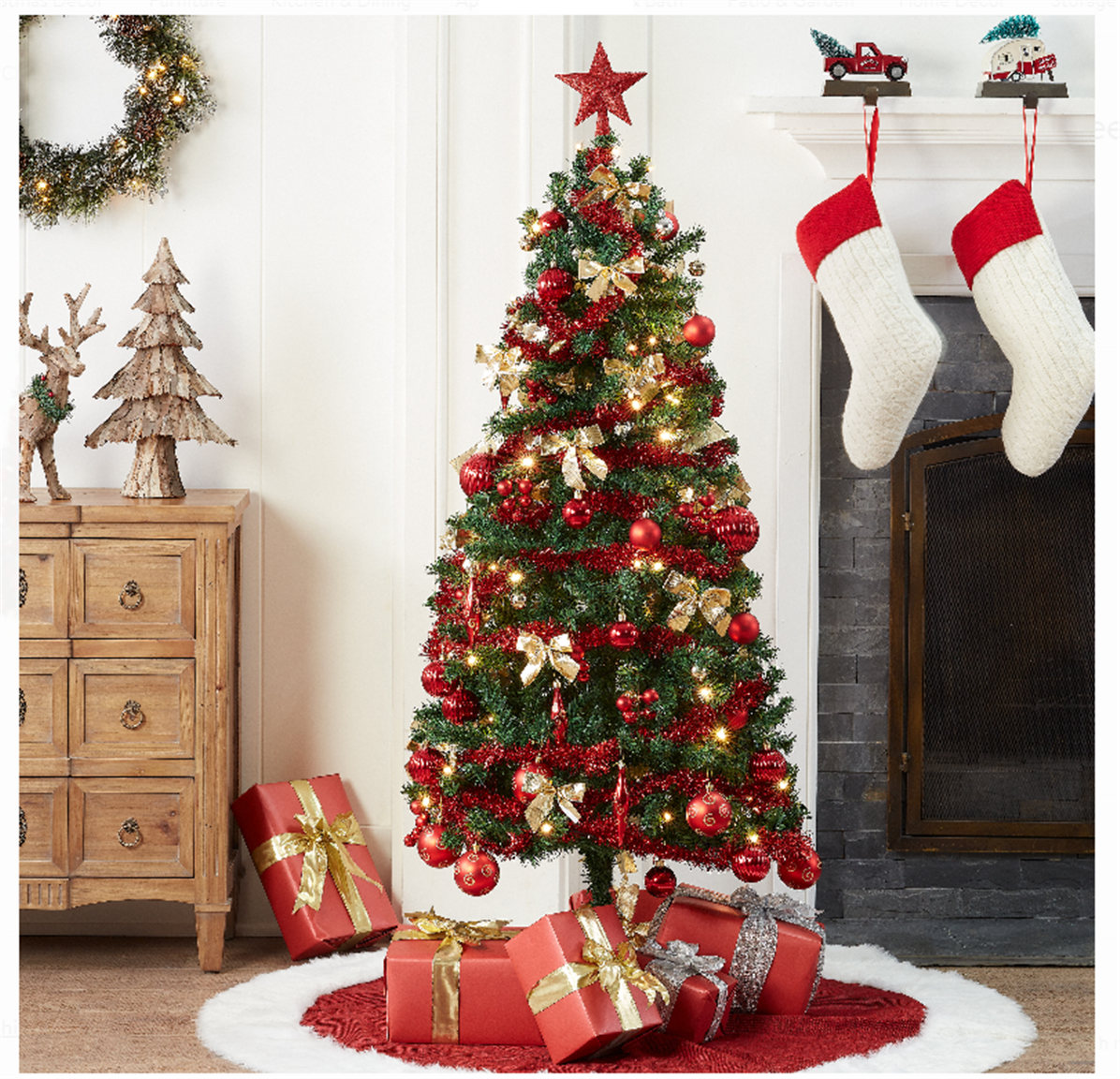 Walmart.com – Holiday Time Pre-Lit Christmas Tree 5 ft with Decorations Only $24, Reg $79+ Free Store Pickup!