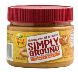 Peter Pan Simply Ground Peanut Butter Only $1.23 each at Publix