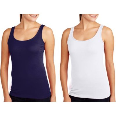 Walmart – Faded Glory Women's Essential Layering Tank, 2 Pack Value Bundle Multiple Colors Only $4.00 (Reg $7.50) + Free Store Pickup