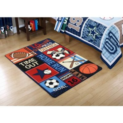 Walmart –  Mainstays Kids All Star Polyester Rectangular Rug, Multi-Color, 3′ x 4'8″ Only $19.36 (Reg $22.00) + Free Store Pickup