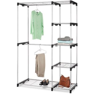 Walmart – Whitmor Double Rod Freestanding Closet, Silver/Black Only $39.77 (Reg $49.00) + Free Store Pickup