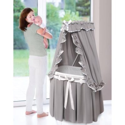 Walmart – Badger Basket Majesty Baby Bassinet With Canopy, Gray and White Bedding Only $71.95 (Reg $80.99) + Free Shipping
