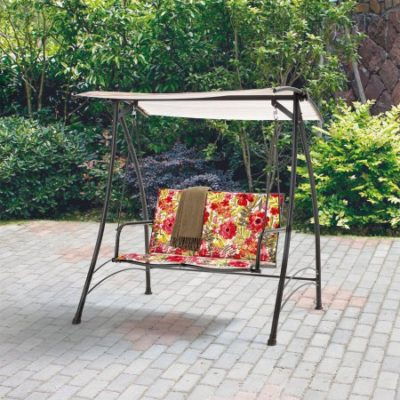 Walmart – Mainstays 2-Person Padded Swing, Floral Only $99.00 (Reg $119.00) + Free Shipping