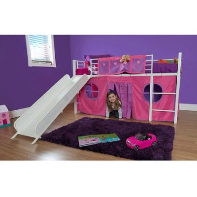 Walmart – Girl Twin Loft Bed with Slide Only $199.98 (Reg $243.00) + Free Shipping
