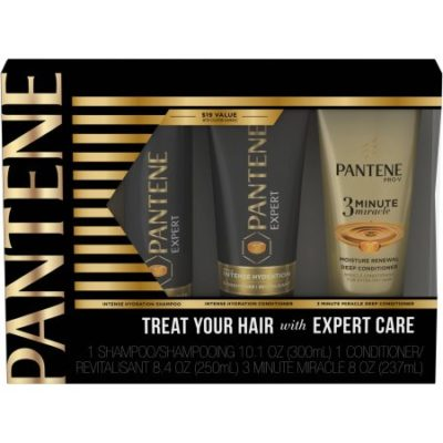 Walmart – Pantene Expert Intense Hydration Holiday Gift Set, 3 Pc Only $9.88 (Reg $19.00) + Free Store Pickup