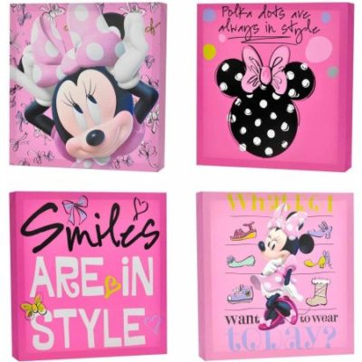 Walmart – Disney Minnie Mouse 4-Pack Canvas Wall Art Only $16.98 (Reg $19.98) + Free Store Pickup