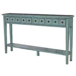 Sears – L Powell Sadie Teal Long Console Only $265.09 (Reg $324.99) + Free Shipping