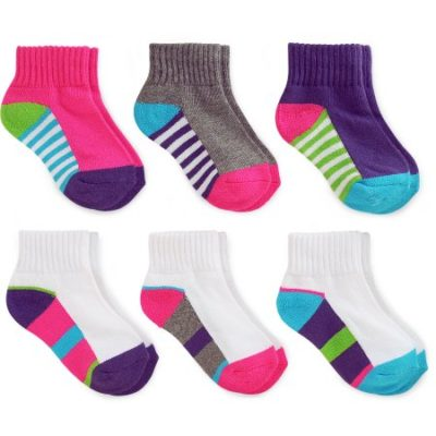 Walmart – Garanimals Baby Toddler Girl Colored Ankle Socks Ages NB-5T, 6-Pack Only $4.47 (Reg $12.88) + Free Store Pickup
