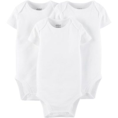 Walmart – Child Of Mine By Carter's Newborn Baby Boy, Girl or Unisex Short Sleeve Bodysuit, 3 Pack Only $5.50 (Reg $6.97) + Free Store Pickup