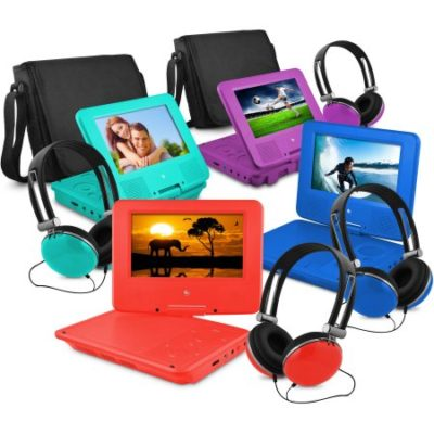 Walmart – Ematic 7″ Portable DVD Player with Matching Headphones and Bag Only $52.58 (Reg $69.99) + Free Shipping