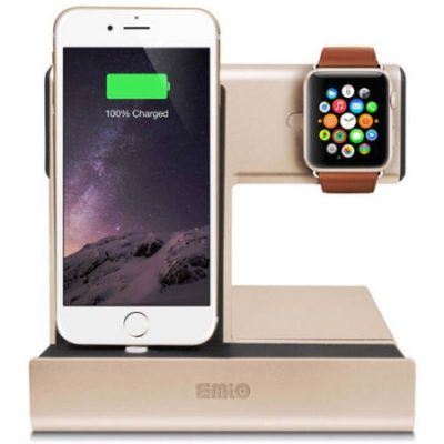 Walmart – Emio 00264 Smart Watch Charge Dock for Apple Watch and iPhone, Gold Only $31.99 (Reg $39.99) + Free Store Pickup