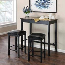 Sears – Dorel Home Furnishings Devyn 3-Piece Faux Marble Pub Dining Set Only $112.65 (Re $174.99) + Free Shipping