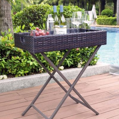 Walmart – Crosley Furniture Palm Harbor Outdoor Wicker Butler Tray Only $100.84 (Reg $119.00) + Free Shipping