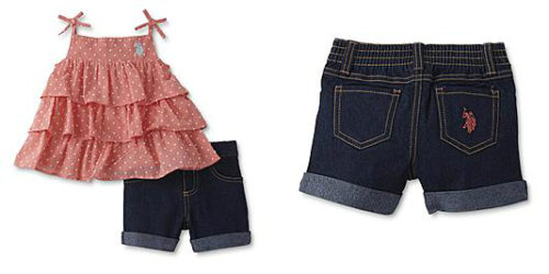 Sears – U.S. Polo Assn. Infant & Toddler Girls' Tiered Tank Top & Jean Shorts Only $14.00 Through 05/20/17 (Reg $28.00) + Free Store Pickup