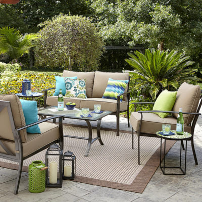 Sears – Garden Oasis Harrison 4 Piece Cushion Seating Set – Tan Only $299.99 (Reg $699.99) + Free Delivery