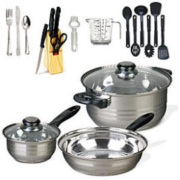 Sears – Gibson 32 pc Cookware Combo Set, Mirror Polished, Bakelite Handle, Encapsulated, S.S. Only $23.19 (Reg 41.99) + Free Store Pickup