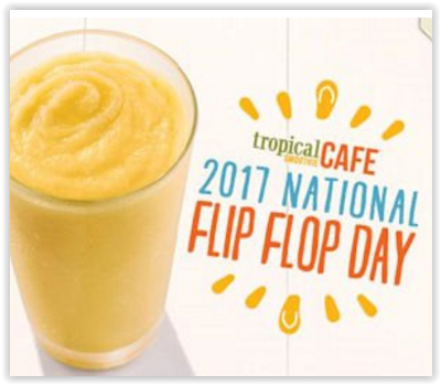 Free Sunshine Smoothie at Tropical Smoothie Cafe on 6/16