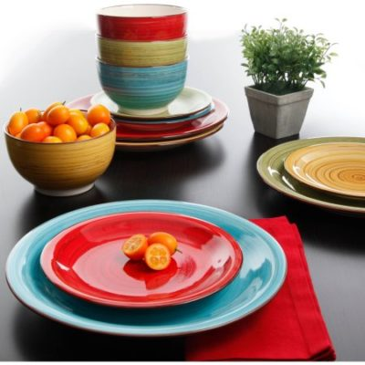 Walmart – Better Homes and Gardens Festival 12-Piece Dinnerware Set, Assorted Only $19.97 (Reg $27.03) + Free Store Pickup