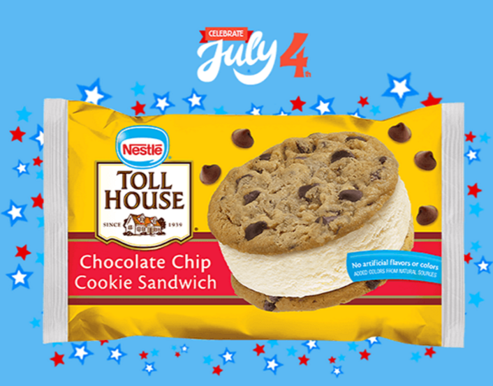 Nestle Toll House Ice Cream Sandwich FREE with the 7-Eleven App