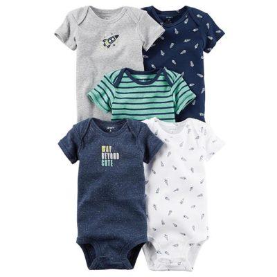 Sears – Carter's Newborn & Infant Boys' 5-Pack Short-Sleeve Bodysuits Only $12.99 (Reg $26.00) + Free Store Pickup