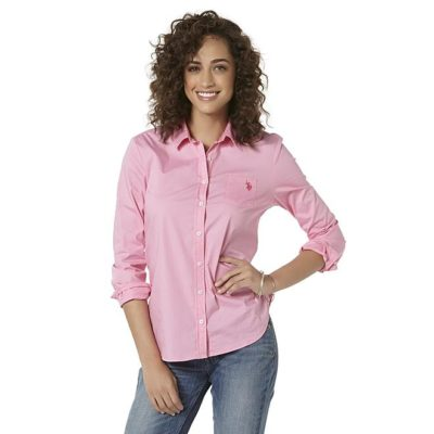 Sears – U.S. Polo Assn. Women's Tie-Front Blouse Only $4.99 (Reg $36.00) + Free Store Pickup
