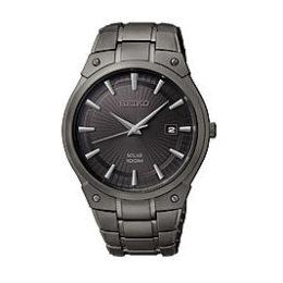 Sears – Seiko Mens Black Ion Finish Solar Calendar Dress Watch Only $147.50 (Reg $295.00) + Free Shipping