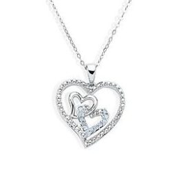 Sears – 1/10 Cttw. Diamond Rhodium Over Sterling Silver Heart Pendant Necklace Only $22.49 (Reg $149.99) + Free Store Pickup