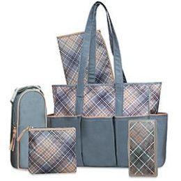 Kmart – Baby Essentials 5-Piece Diaper Bag Set – Plaid Only $24.00 (Reg $40.00) + Free Store Pickup