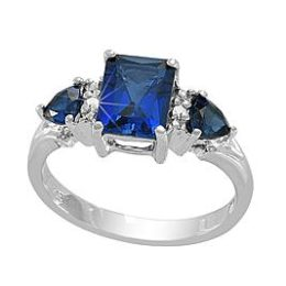 Sears – 1.79 ctw Lab Created Blue Sapphire and Diamond Accent Ring in Sterling Silver Only $18.74 (Reg $124.99) + Free Store Pickup