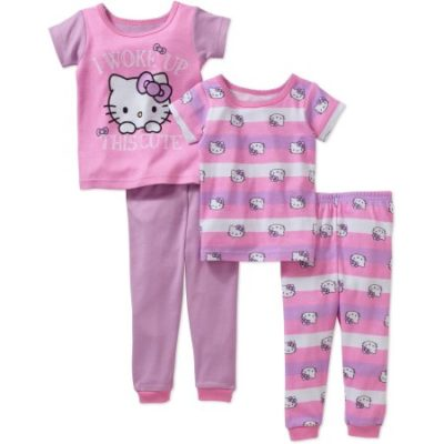 Walmart – Hello Kitty Baby Girl's Licensed Cotton 4-Piece Set Only $9.00 (Reg $12.88) + Free Store Pickup