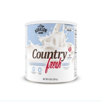 Walmart – Augason Farms Country Fresh 100% Instant Nonfat Dry Milk, 8 oz Only $3.11 (Reg $5.66) + Free Store Pickup