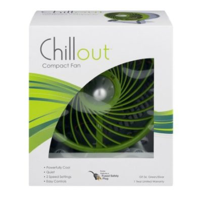 Walmart – Chillout 8″ Personal Fan, Green GF-56 Only $12.19 (Reg $19.99) + Free Store Pickup