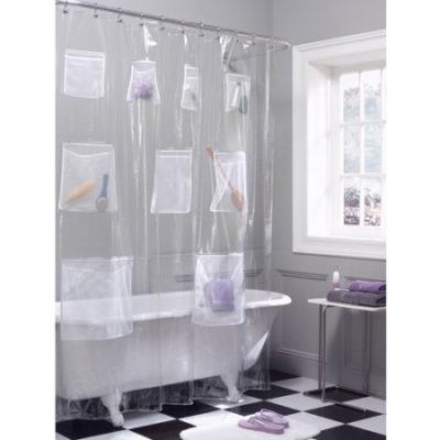 Walmart – Maytex Mesh Pockets PEVA Storage Shower Curtain, Clear Only $16.78 (Reg $21.33) + Free Store Pickup