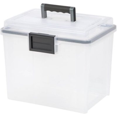 Walmart – IRIS 19 qt Portable Weathertight File Box, Pack of 4, Clear Only $39.98 (Reg $56.69) + Free 2-Day Shipping
