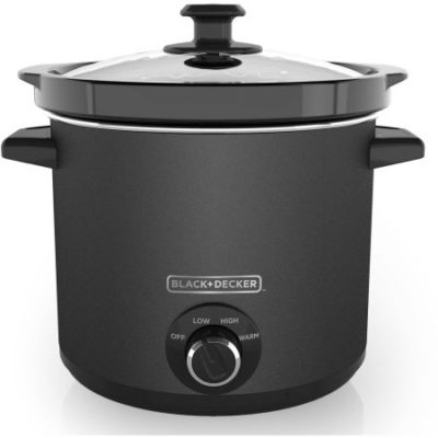 Walmart – BLACK+DECKER SC4004D 4 Quart Dial Control Slow Cooker with Built in Lid Holder, Chalkboard Surface (Chalk Included) Only $18.64 (Reg $29.99) + Free Store Pickup