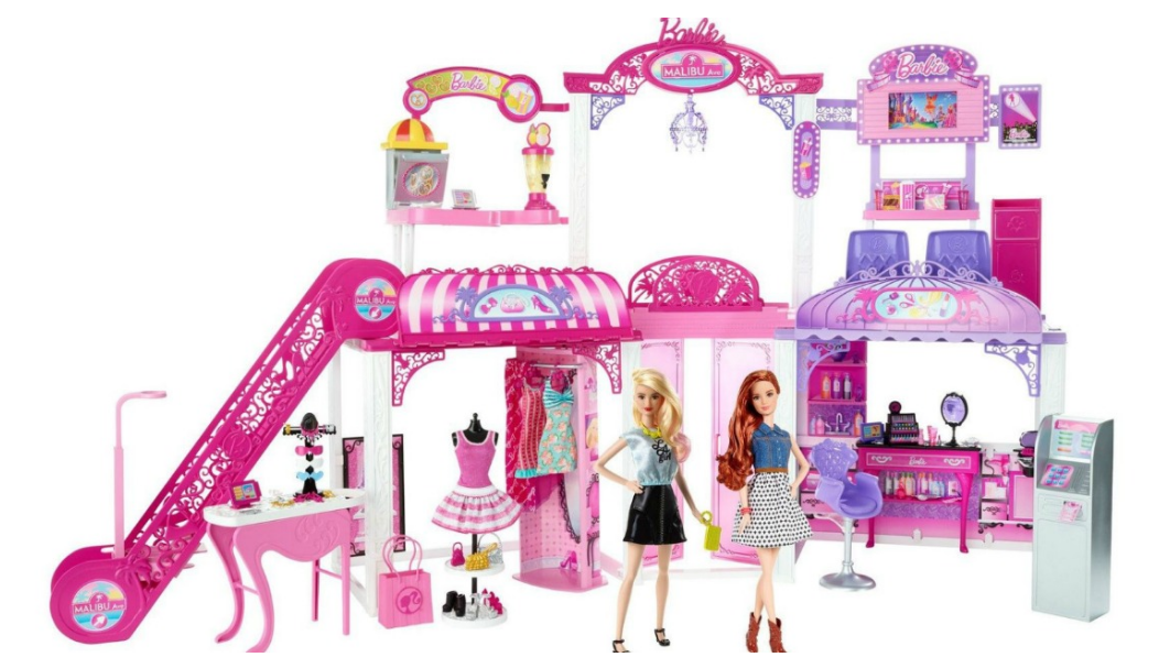 Ebay – HUGE Barbie Malibu Ave 2-Story Mall with 2 Dolls – (50+ Pieces, 2′ Tall, 4′ Wide) Only $37.99 (Reg $107.99)