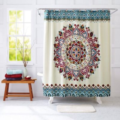 Walmart – Better Homes and Gardens Medallion Fabric Shower Curtain Only $15.30 (Reg $17.48) + Free Store Pickup