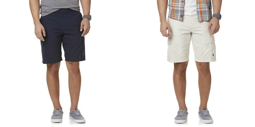Sears – U.S. Polo Assn. Men's Crosshatch Cargo Shorts Only $14.99 Through 09/02/17  (Reg $56.00) + Free Store Pickup