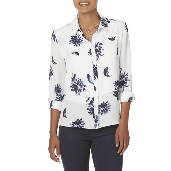 Sears – Simply Styled Women's Tiered Blouse – Floral Only $19.99 (Reg $40.00) + Free Store Pickup