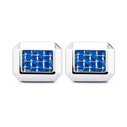 Sears – Stainless Steel Blue Accent Cufflinks Only $39.99 (Reg $99.99) + Free Store Pickup