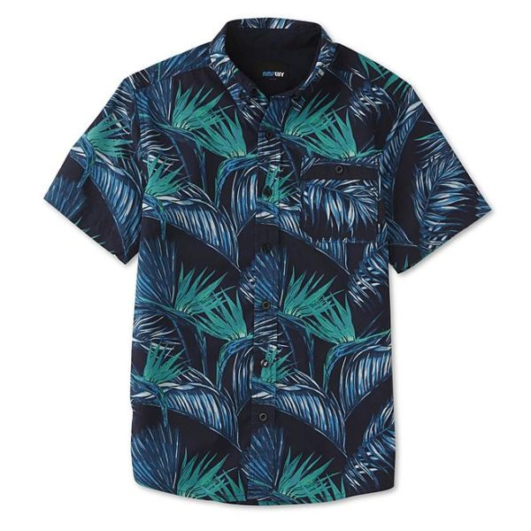 Sears – Amplify Boys' Button-Front Shirt – Palm Leaf Only $9.99 (Reg $20.00) + Free Store Pickup