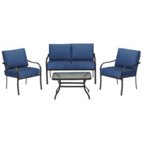 Kmart – Bailey 4 Piece Seating Set – Blue *Limited Availability* Only $199.99 (Reg $499.99) + Free Store Pickup